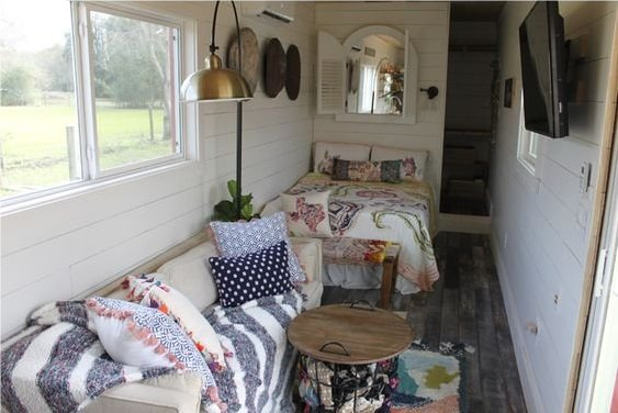 Shipping container tiny home interior