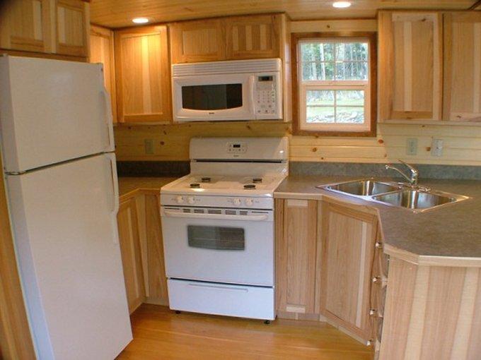 Tiny home on wheels kitchen