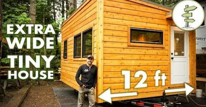 Wide tiny house