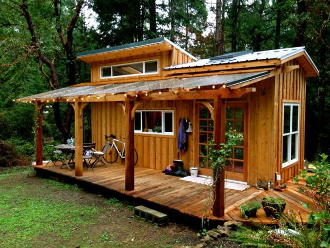 Hand built tiny house