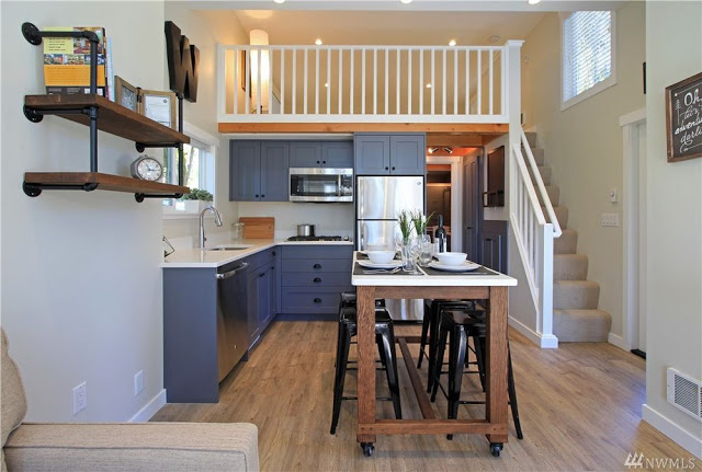 Tiny house cottage interior