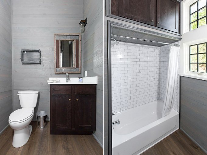 Country tiny house bathroom