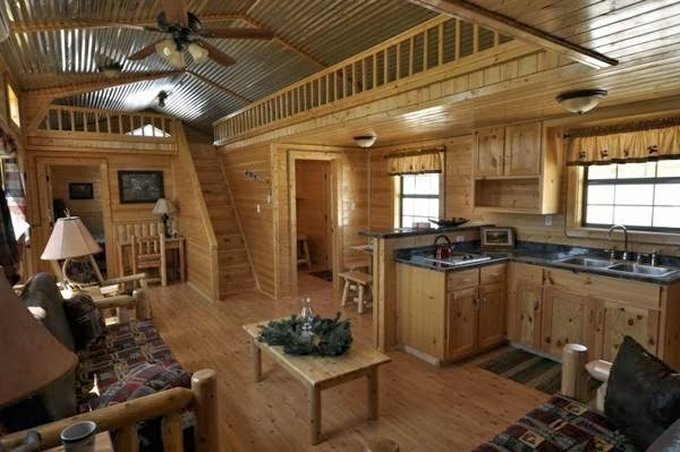 Cozy cabin kit interior