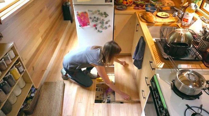 Custom tiny house kitchen