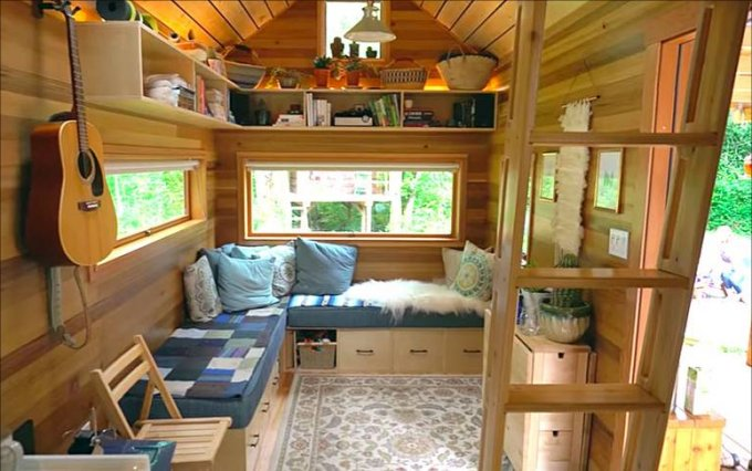 Custom tiny house inside