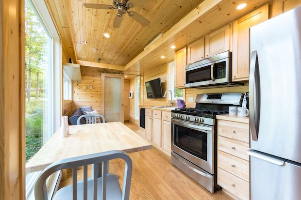 Tiny house village kitchen
