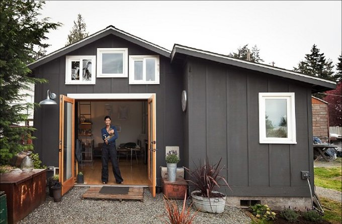 Garage tiny house