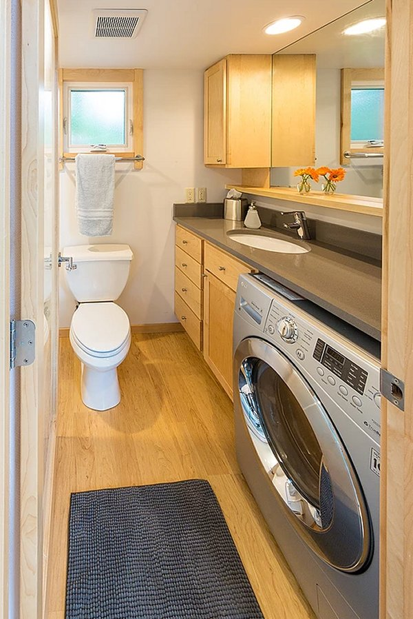 Elegant tiny house bathroom