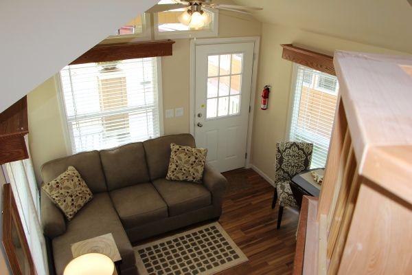 Park model tiny house interior