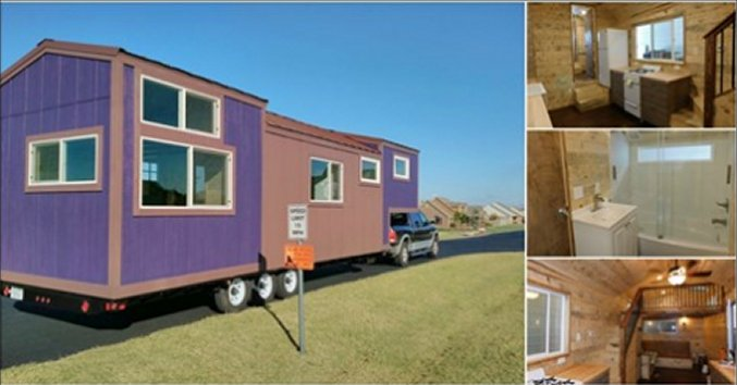 Purple monster tiny house