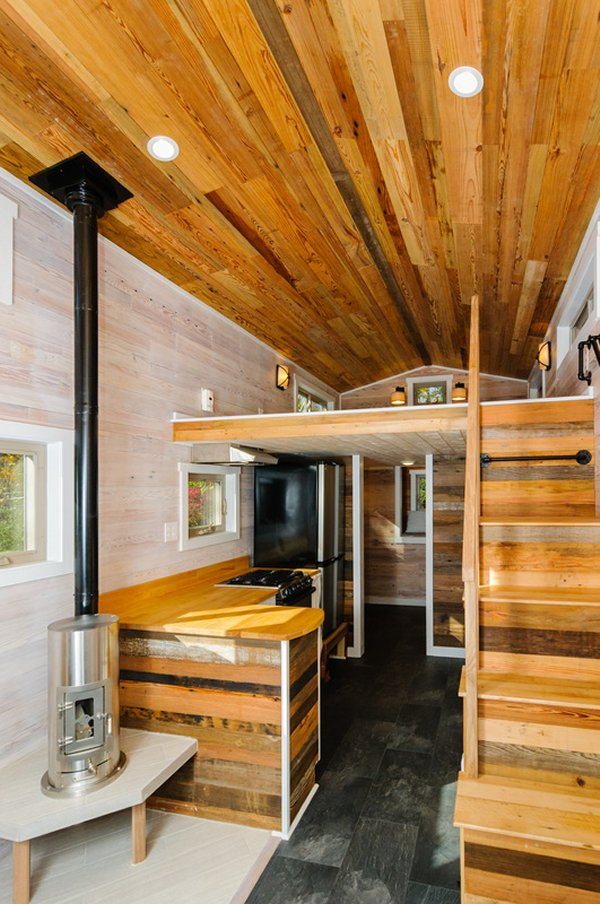 Custom tiny home interior