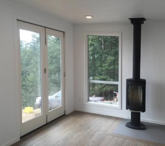 Modular tiny house interior