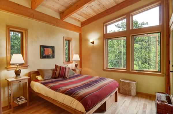 Small house bedroom